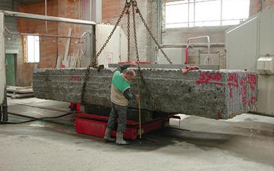 Sciage granit plan